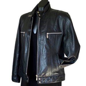 Jackets & Blazers - Moto 100% Soft Leather Jacket Black Medium